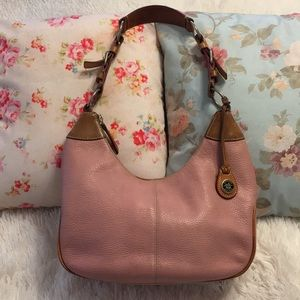 [Dooney & Bourke] Vintage Pink Leather Bag *FIRM*